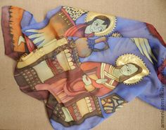 """Шали, палантины ручной работы. Ярмарка Мастеров - ручная работа Платок """"Христианство"""". Handmade."""