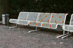 Miss Cross Stitch - public bench in Berlin