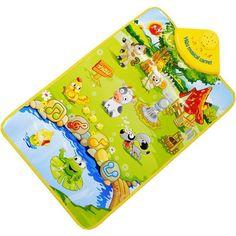 Kids Baby Farm Animal Musical Music Touch Play Singing Gym Carpet Mat Toy Gift