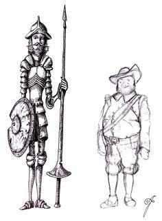 Don Quixote, against the windmills . . . #donquixote #donquijote #donkişot #against #the #windmills #sketch #blackandwhite #hatch #crosshatch #pen #cervantes #pencil #pencildraw #sanchopanza #drawing #art #engraving