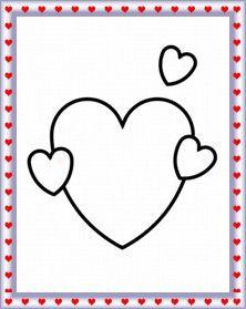 Planse de colorat de Ziua Indragostitilor Valentine's Day craft for kids