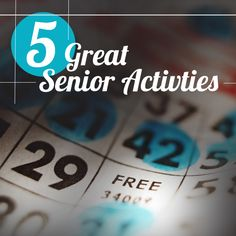 5 great activities that will not only help keep aging adults happy, but it can benefit their cognitive ability and overall health as well.