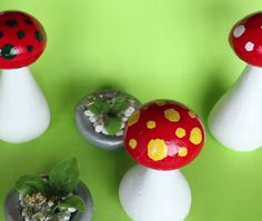 Garden room videos Make your garden even more beautiful with these cement mushrooms. By: MetDaan Diy Cement Planters, Cement Art, Concrete Garden, Wall Planters, Succulent Planters, Succulents Garden, Diy Home Crafts, Diy Arts And Crafts, Garden Crafts