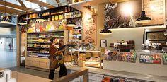 Urban Food Market Supermarket Design, Liquor Store, Liquor Cabinet, Bakery, Beverages, Urban, Store Fronts, Interior Design, Arch
