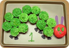 Pieces by Polly: Very Hungry Caterpillar Cupcake Cake Tutorial