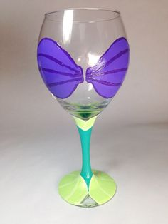 Little Mermaid Wine Glass   on Etsy, $25.00