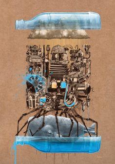 スイスのChristian Rebecchi & Pablo Togni 別名 Nevercrewによるカラフルなストリートアート・モチーフのポスター