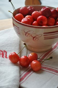 red and white Cherry Hill, Cherry Tree, Cherry Delight, Cherry Baby, Cherries Jubilee, Red Cottage, Farm Cottage, Beautiful Fruits, Sweet Cherries