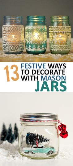 13 Festive Ways to Decorate with Mason Jars - Sunlit Spaces