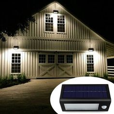 This is our brightest Solar Powered LED Security Light. With 32 LED bulbs, 400 lumen and motion sensor function, this will be the ultimate security addition to your home without any wiring needed! - Gardening Is Life Diy Home Security, Home Security Systems, Security Alarm, Garage Lighting, Outdoor Lighting, Exterior Lighting, Lighting Ideas, Ceiling Lighting, Shop Lighting