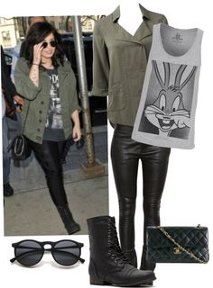 """Demi Lovato"" by the-purple-unicorn ❤ liked on Polyvore"
