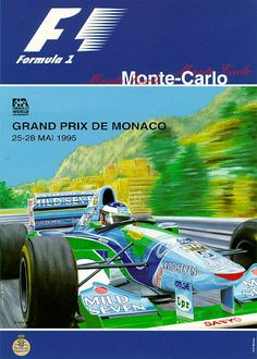 #monaco #grandprix poster 1995 Winner: Michael Schumacher / Benetton-Renault Find all the Grand Prix of Monaco official products in partnership with the Automobile Club of Monaco, as well as web exclusives! http://monaco-addict.com
