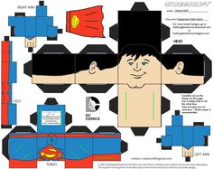#Cubee #Craft #Fan #Art. (DCNU1: Superman Cubee) By: TheFlyingDachshund.