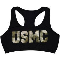 USMC Glitter Sports Bra | Womens | Sgt Grit - Marine Corps Store