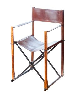 Amazon.com - Abigails Brown Leather Folding Directors Chair, 20 by 18 by 34.25-Inch -