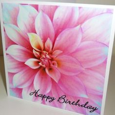Bloom, Gorgeous Handmade Birthday Card Happy Birthday Wishes Greeting Cards B001 £1.95