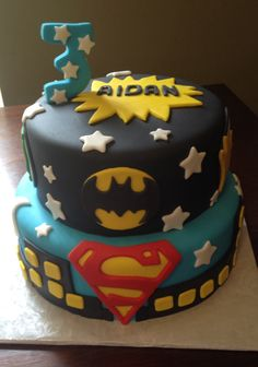 Justice league bday cake