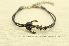 Anchor Bracelet Antique bronze by katrinakishi on Etsy, $2.70