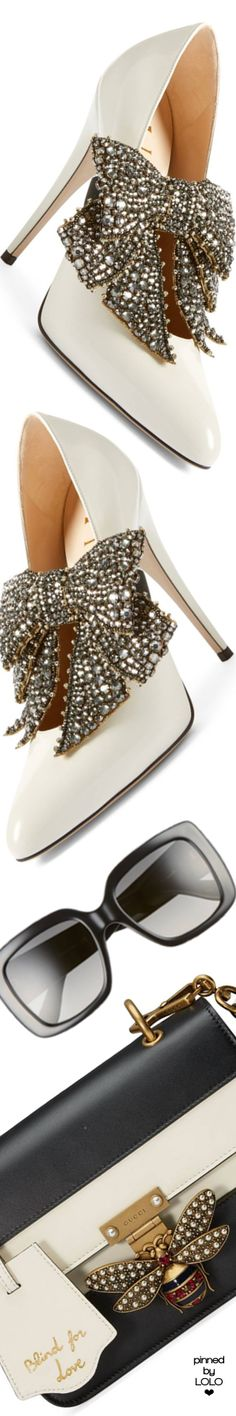 Gucci Elaisa Bow Pump Bridal Shoes, Wedding Shoes, Pumps Heels, High Heels, Stilettos, Embellished Shoes, Only Shoes, Gucci Accessories, Kinds Of Shoes