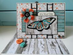 "Stamps: MFT butterflies    Paper: MME ""On the bright side"""