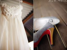 Simple reception dress that retains the charm of the wedding dress