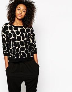 Enlarge Monki Giraffe Print Sweater