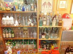 Huge selection of antique bottles at Otter Creek Antiques in Rutland, VT