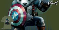 T-shirts - Design: Captain Panda - by: ADAM LAWLESS
