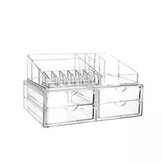 Vencer King-size Acrylic Jewelry & Cosmetic/makeup Organizer (1 Top 4 Drawers)