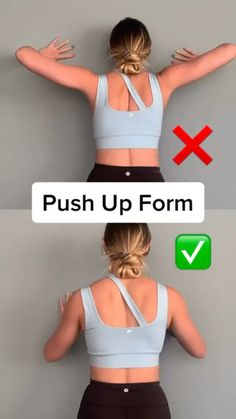 Workout Videos For Women, Gym Workout Videos, Gym Workout For Beginners, Fitness Workout For Women, Fitness Tips For Women, Workouts, Push Up Workout, Gymnastics Workout, Month Workout