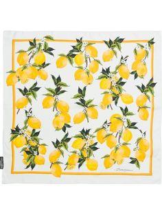 Dolce & Gabbana lemon print scarf