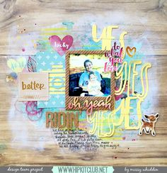 Hip Kit Club DT Project - 2015 September Hip Kits - American Crafts, Crate Paper, exclusive Project Life cards