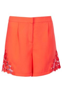 Crochet Detail Shorts - Shorts  - Clothing