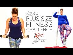 Plus Size Fitness Challenge - Katie K Active and Coach Tulin - Kollu Plus Size Fitness, Plus Size Workout, Dieta Fitness, Fitness Diet, Health Fitness, Health Diet, Healthy Exercise, Get Healthy, Obese Exercise