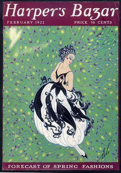 Erté (Romain de Tirtoff) 1922 Cover Only — original fashion print Art Nouveau, Erte Art, Visual Arts Center, Original Vintage, Fashion Cover, Famous Art, Vintage Magazines, Vintage Ads, Vintage Vogue