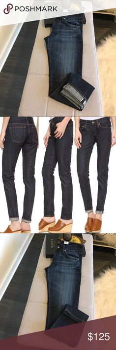 """AG Adriano Goldschmied The Nikki Boyfriend Jean AG Adriano Goldschmied Style #SST14990 - The Nikki. A boyfriend to """"girlfriend"""" fit depending on your size. Vendor photo #2 shows fit. The inseam is about 31""""-31.5"""". These can be rolled up to look like a crop/ankle. Waist approx. 16"""" flat across. Rise approx. 8.5"""". Will fit a true 27 more of a boyfriend look I would say & a true 28 more the relaxed skinny look. Wash is 03Y-ARD. No stains, holes or damage. AG is high quality & always in! Ag…"""