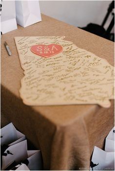 Custom Wooden State Wedding Guestbook. Would look so cute hanging up in a home!