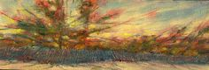 Hyannis Cape Cod Beach Fence 3x12 in. Original Oil on canvas  Hall Groat Sr.  #Impressionism