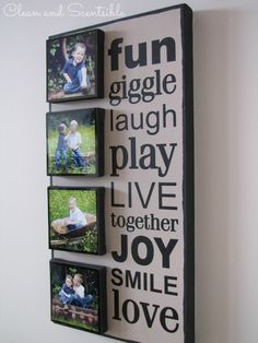 Decorating with Pictures - love to make these projects!