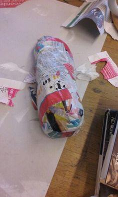Dit is hoe de schoen eruit zag aan het eide van de les.