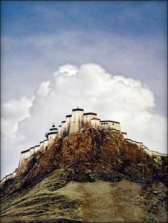 Monastery overlooking Shigatse - Tibet The symbol of Peace. Let there be peace and happiness in Tibet. #free #tibet is what we demand for. So Inspiring!