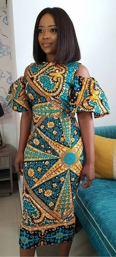 browse our collection of modern African Ghanaian Ankara dress styles 2019 for African American women to rock this year and to stay keep up with the latest trends in the African and Ghanaian fashion trend in Africa and around the world. African Print Dresses, African Fashion Dresses, African Attire, African Wear, African Women, Ankara Fashion, African Style, African Dress Styles, African Outfits