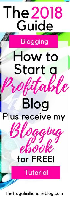 How to start a profitable blog in 2018! Are you ready to make money blogging?! Here is the ONLY guide you need to start a profitable blog and start earning an income from home!