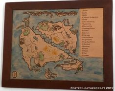 Sunrise City, Custom Map, Cartography, Leather Craft, The Fosters, Vintage World Maps, Great Gifts, Carving, Handmade