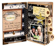 Use TAGS as dividers for each scrapbook section! Make title tags with the family surname for each chapter to easily find a specific branch of your tree.