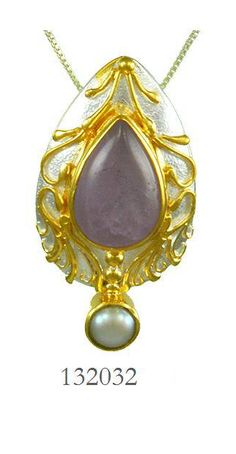 Amethyst Cape Lavender and Fresh Water Pearl pendant - Waterdance Collection