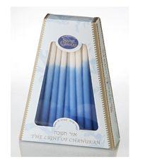 Blau-weiße Chanukka-Kerzen, 45 Stück