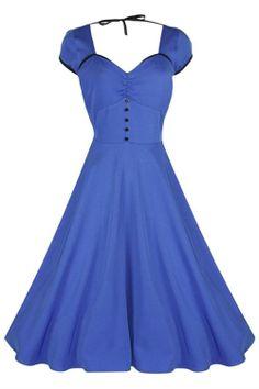Swing+Dance+Dresses   Lindy Bop Bella Blue 50's Swing Dress