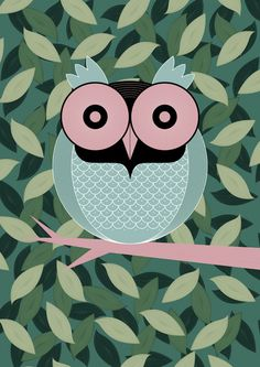 owl by Thomas Vogt. one of my fav owl illustrations