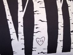 custom birch tree pillow cover  personalized with your by cozyblue, $38.00